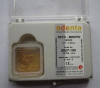 Позлатени щифтове Edenta